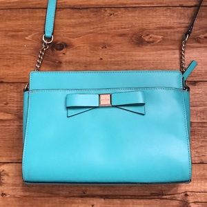 Kate Spade Crossbody Bag in blue with Gold accents
